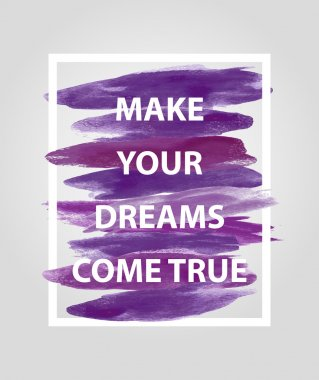 Motivational square quote