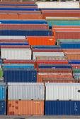 Container-Stapel-Vi — Stockfoto