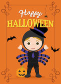 Halloween plakát Spidergirl — Stock fotografie