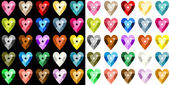 Colored heart sequins — Stock Vector