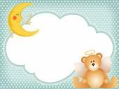 Angel teddy bear on cloud — Stock Vector