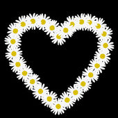 Daisy chain in the shape of a heart — Stock Vector