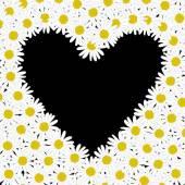 Srdce z květů sedmikrásky — Stock vektor