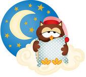 Good night owl — Stock Vector