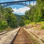 Railroad and Big Bridge — Stock Photo #53598717