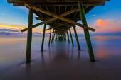 Bogue Inlet Pier at Daybreak — Stock Photo