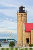 Lighthouse and the Mighty Mac — Stock Photo