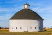 White Round Barn — Stock Photo