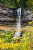 Munising Falls and Autumn Leaves — Stock Photo