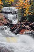 Michigan's Sable Falls — Stock Photo