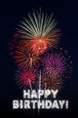 Happy Birthday Fireworks — Stock Photo