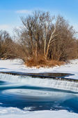 Icy Swirling Waterfall — Photo