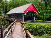 The Flume Covered Bridge — Stock Photo