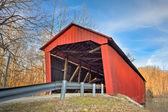 Edna Collings Covered Bridge at Sundown — Stock Photo