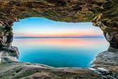 Sea Cave Sundown — Stock Photo