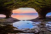 North Michigan Sea Cave — Stock Photo