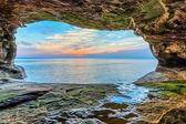 Sea Cavern Sunset — Stock Photo