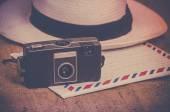 Vintage photocamera — 图库照片