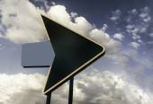 American highway retro road Route 66 USA sign arrow — Stock Photo