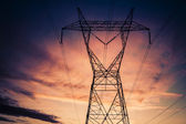 Power electricity supply infrastructure — Foto de Stock