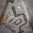 Old rustic tools — Stock Photo #79432886