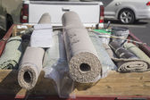 New carpet being delivered for home improvement — Stock Photo
