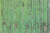 Old green fence — Stock Photo