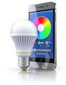 Led bulb with mobile wifi remote control — Стоковое фото