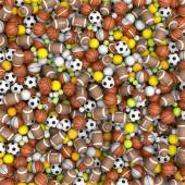 Sportowe piłki na podłodze — Zdjęcie stockowe