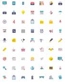 Flat business and office  icon set — Stock Vector