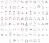 Big clothes set — Stock Vector