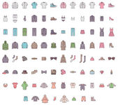 Big clothes set — Stock Vector