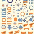 Set of the design elements — Stock Vector #59869435