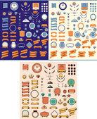 Conjunto de los elementos de diseño — Vector de stock