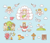 Religious icon set — Stockvektor