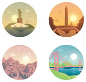 Icons set  landmarks and cultures — Stock Vector