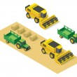 Vector isometric farm vehicles set — Stock Vector #72579289