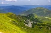 Green mountain panorama — Stock Photo