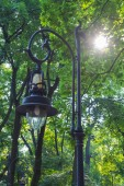 Lantern in a park — Stock Photo