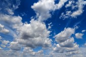 Blue sky with clouds — Stok fotoğraf