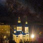 Christian church at the night — Foto de Stock