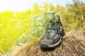 Pair of touristic boots — Stock Photo