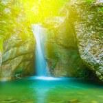 Small mountain waterfall — Stock Photo #60203373