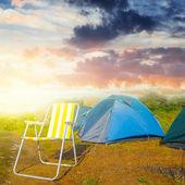 夜の観光キャンプ — ストック写真