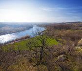 Spring river scene — Stock Photo