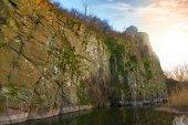 Tramonto sopra un canyon — Foto Stock