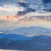 Blue mountain scene — Foto de Stock