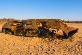 Poškozené Atc v poušti východní Ukrajina — Stock fotografie