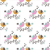 Seamless pattern with birds — Stock Vector
