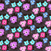 Seamless background of flowers — Stock Vector